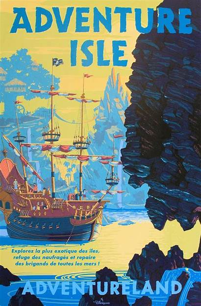 Poster Adventure Isle Disney Posters Disneyland Paris