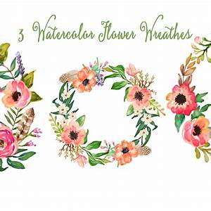 Watercolor Hand Painted Floral Frames Clipart Floral ...