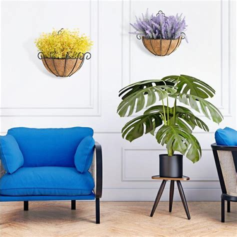 romantic artificial flower home decoration wall basket