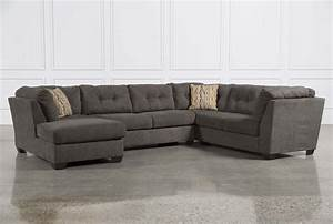 Delta City Steel 3 Piece Sectional W/Laf Chaise - Living