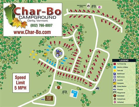 Charbo Campground  Site Map & Rules