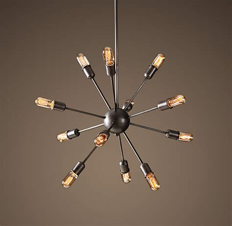 restoration hardware sputnik filament chandelier aged