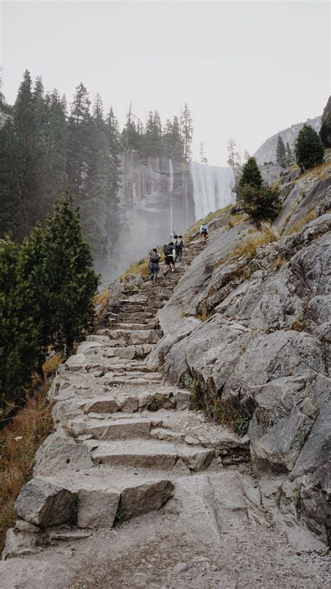Mist Path Vernal Falls Yosemite National Parks