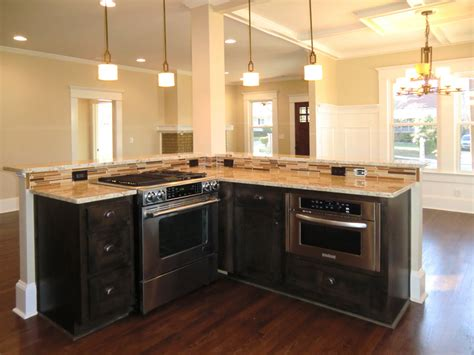 kitchen island with stove counter microwave for easier works traba homes 5229