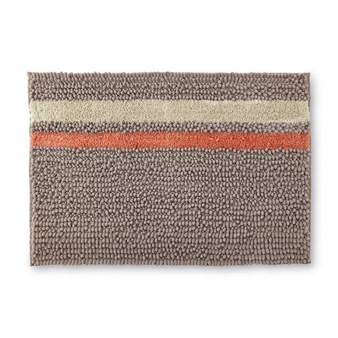 essential home striped textured bath rug home bed