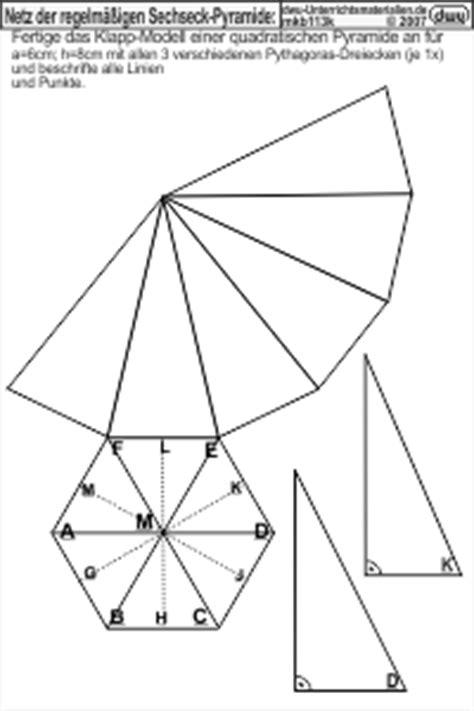 mkb netz der regelmaessigen sechseck pyramide