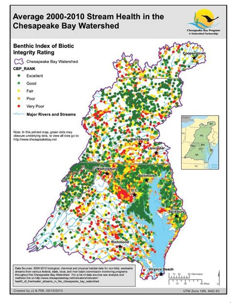 Chesapeake Bay Gis Data by Average 2000 2010 Health In The Chesapeake Bay
