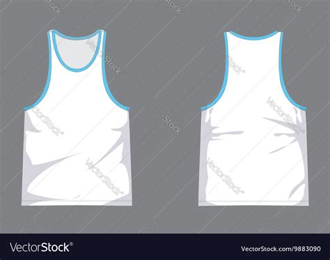 Singlet Design Template by Mens Singlet Template With Shading Royalty Free Vector Image