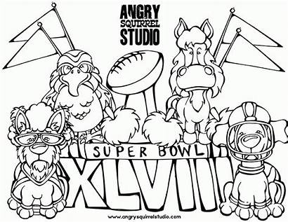 Coloring Seahawks Bowl Pages Super Seattle Football