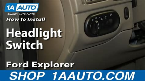 install replace headlight switch ford explorer