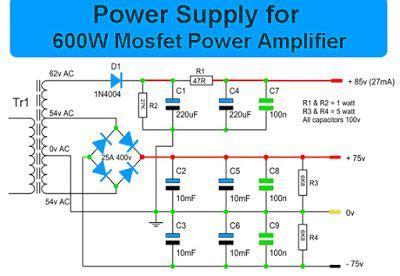 Watt Mosfet Power Amplifier With Pcb