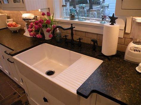 farmhouse sink  drainboard   good ideas farmhouse sink kitchen kitchen remodel