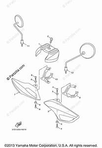 Yamaha Scooter 2014 Oem Parts Diagram For Cowling 1