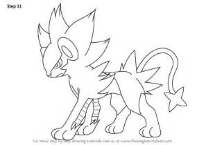 how to draw luxray from pokemon