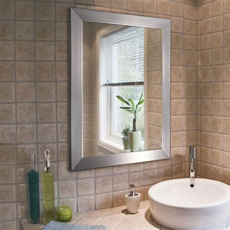 Brushed Nickel Bathroom Mirror by 1000 Images About Bathroom Mirrors On Oval