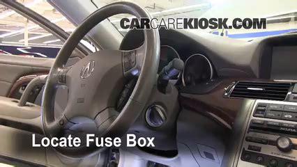 interior fuse box location   acura rl