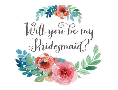 bridesmaid card floral watercolor