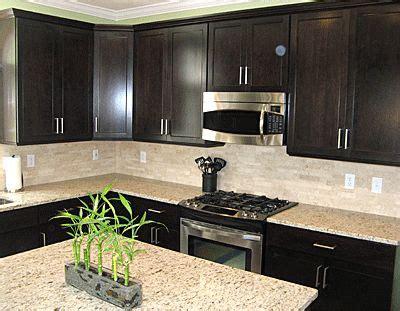 backsplash for espresso cabinets backsplash and counters expresso cabinets sleek but
