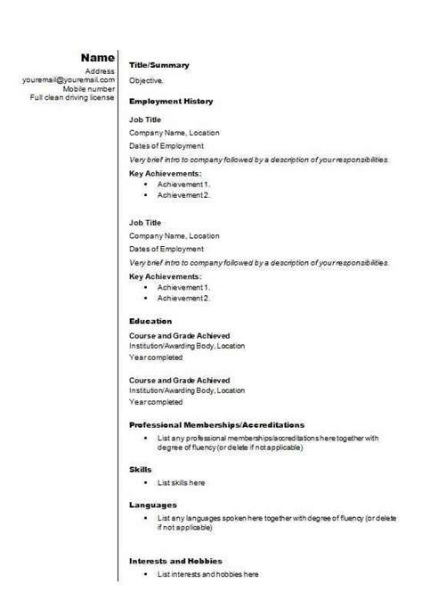 Free Stylish Resume Templates by Stylish Cv Template Cv Template Master