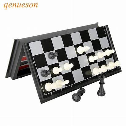 Board Magnetic Chess Backgammon Checkers Folding Plastic