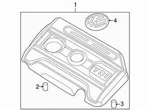 Volkswagen Eos Emblem  Nameplate  Vw Sign  Engine  Liter