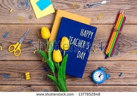 stock photo flat lay composition  teachers day