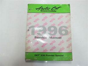 1996 Arctic Cat Ext 580 Powder Special Service Manual Worn Water Damaged Oem