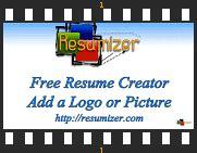 Resumizer Resume Creator Htm by Resume Logo Resumizer