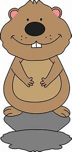 Groundhog Sees His Shadow Clip Art - Groundhog Sees His ...