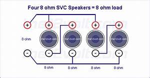 Subwoofer Wiring Diagrams For Four 8 Ohm Single Voice Coil