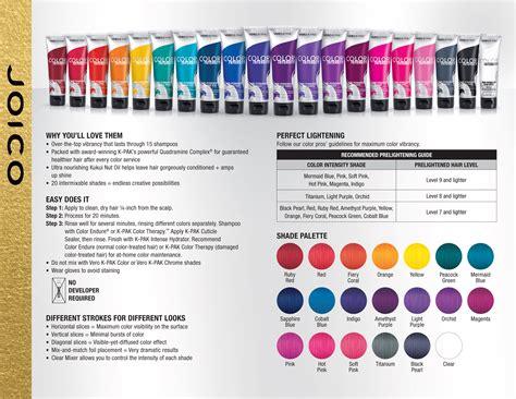 joico colors joico vero k pak color intensity fact sheet color