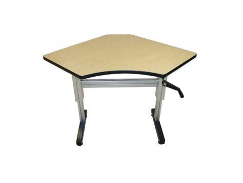 hand crank standing desk equal corner hand crank adjustable height desks ergosource
