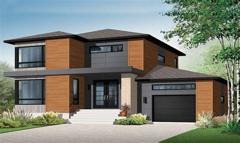Moderne Haus Plan by 2 Story House Plans Contemporary Modern House Plan