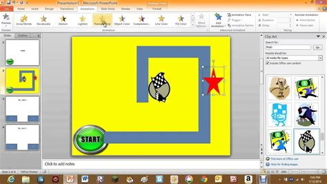 maze game  powerpoint  youtube
