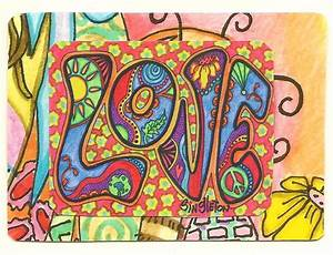 Psychedelic Love Singleton Hippie Art The ACEO