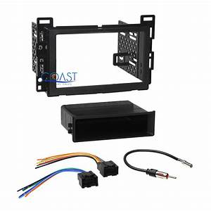 Car Radio Stereo Single 2din Dash Kit Wire Harness For 2006