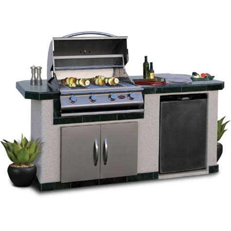 cal flame outdoor kitchen stainless cal flame lbk710 outdoor bbq island with 4 burner grill