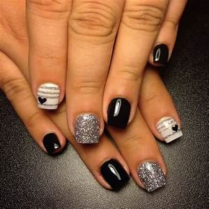 Black White Acrylic Nail Designs - Nail Art Ideas