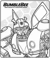 Bumblebee Coloring Transformers Movie Bee Bumble Printable Getcoloringpages sketch template
