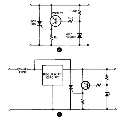 Simple Crowbar Circuit Diagram Electronic