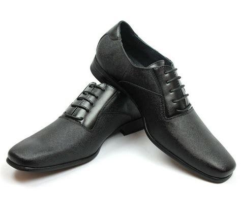 Bid Sniper Uk New Mens Ferro Aldo Black Herringbone Dress Shoes Leather