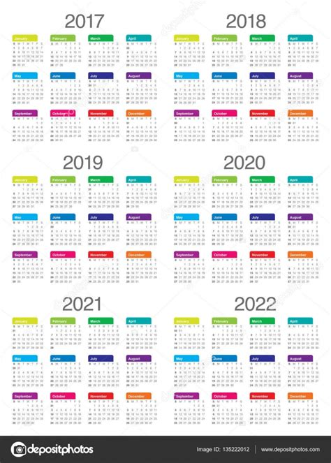 prostoy shablon kalendarya na gg vektornoe izobrazhenie