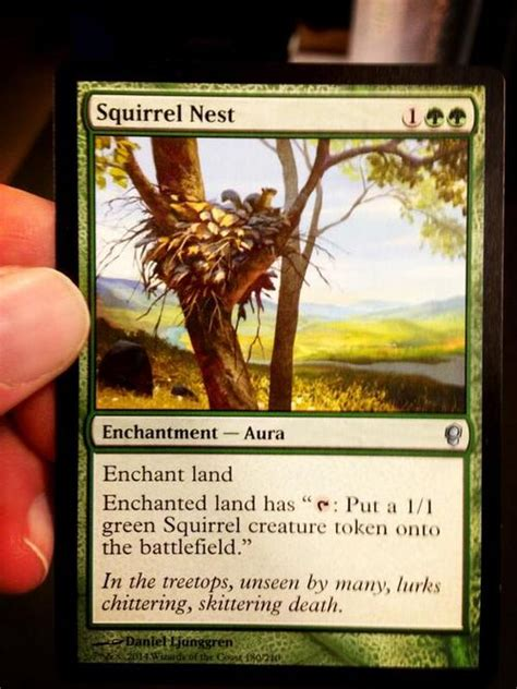mtg squirrel tribal deck conspiracy squirrel nest squirrel token the bag of loot