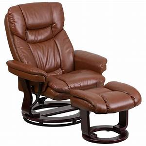 Leather, Recliner, With, Ottoman