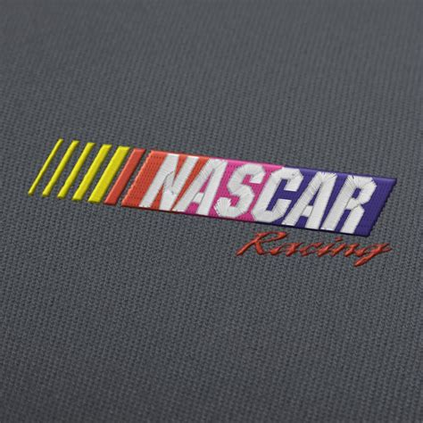 nascar racing logo embroidery design  instant