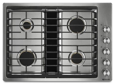 Jenn-air Stainless Gas Cooktop With Downdraft