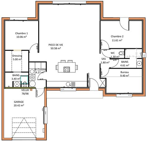 plan maison 6 chambres plain pied plan de maison