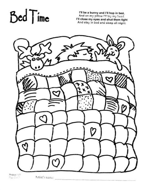 bedtime coloring pages coloring home