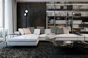 appartement de luxe avec touche industrielle a kiev With tapis de gym avec canapé d angle basika