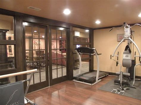 basement  traditional home gym cincinnati